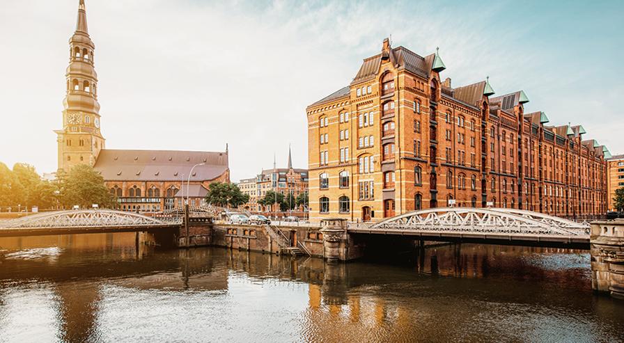 Die Alster in Hamburg