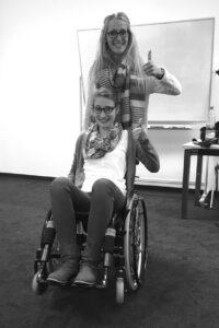 Ann-Cathrin Jordan während einer Behandlung